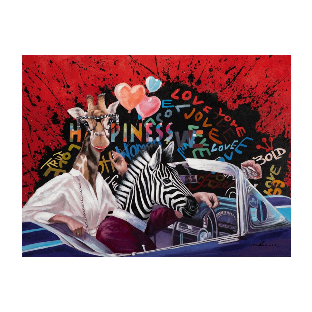 Imageland Bild Giraffe und Zebra on tour