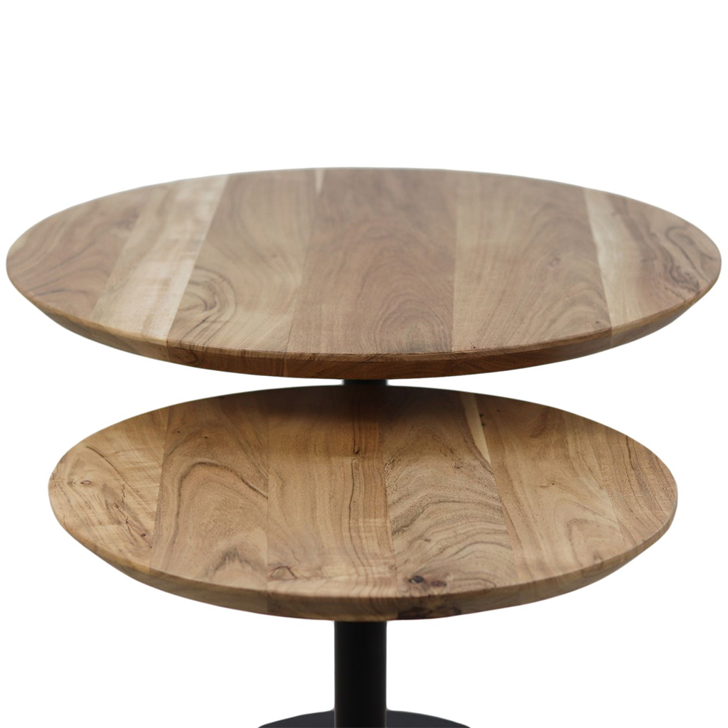 Wooden Art Säulentisch 2er-Set