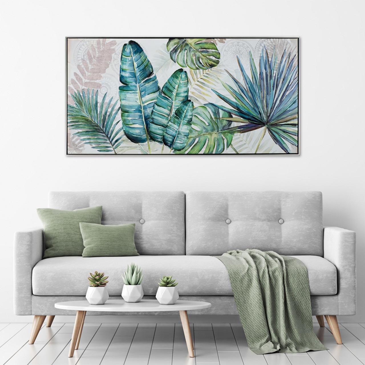 Imageland Bild Blätter in grün und blau
