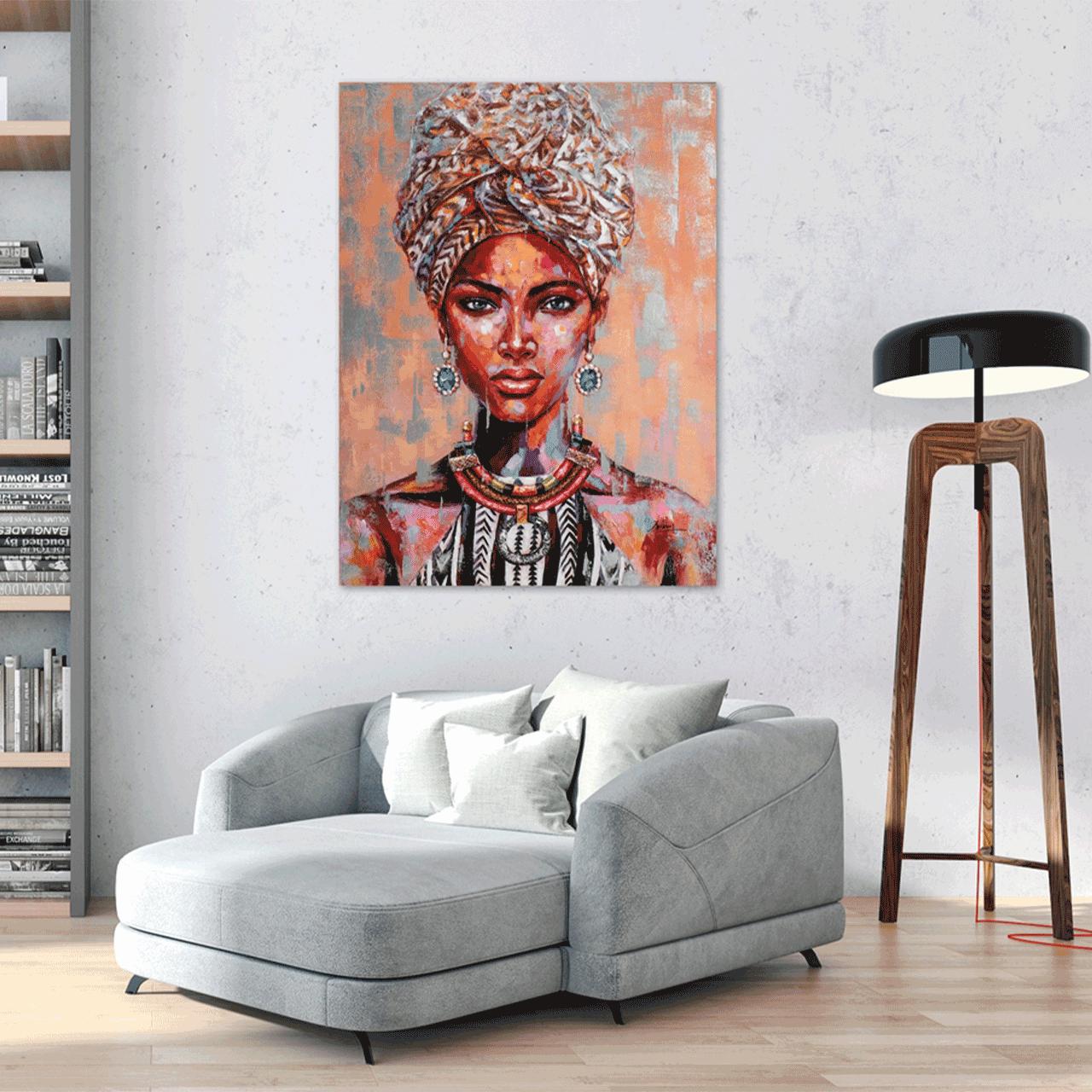 Imageland Bild Afrikanische Schönheit mit Turban