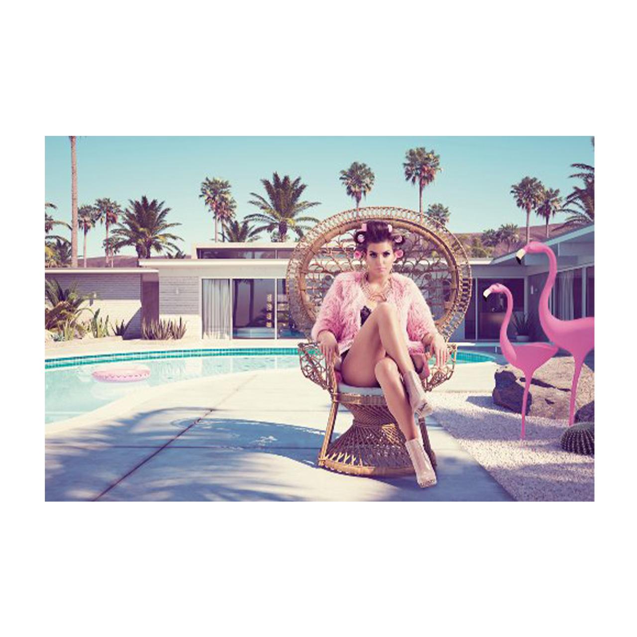 Imageland Bild Dame mit Flamingos