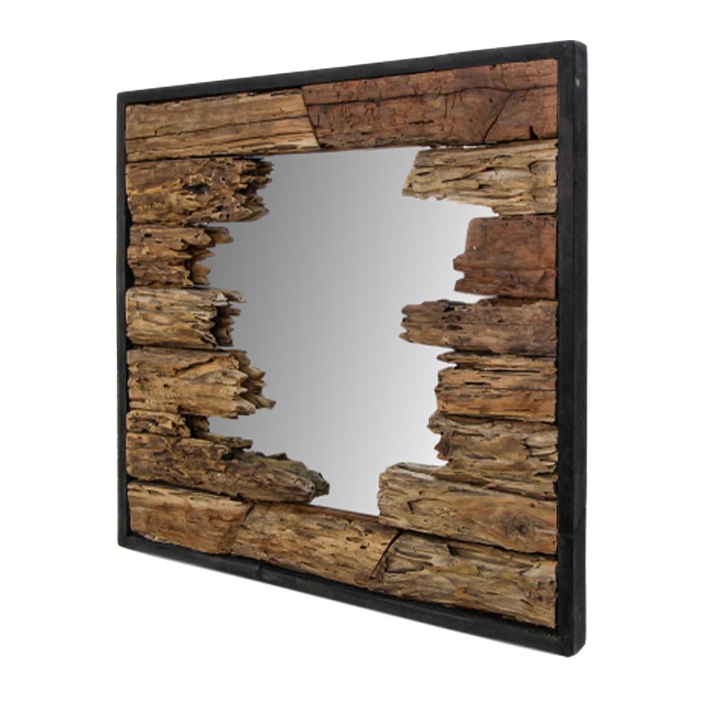 Wooden Art Spiegel Teak