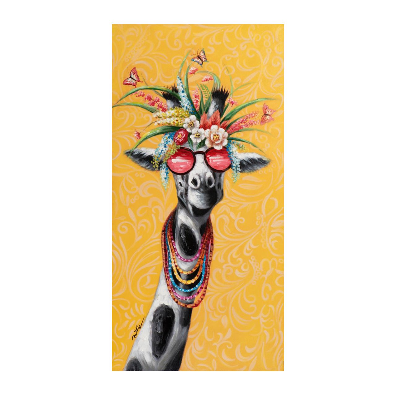 Imageland Bild Lustige Giraffe mit Blumen