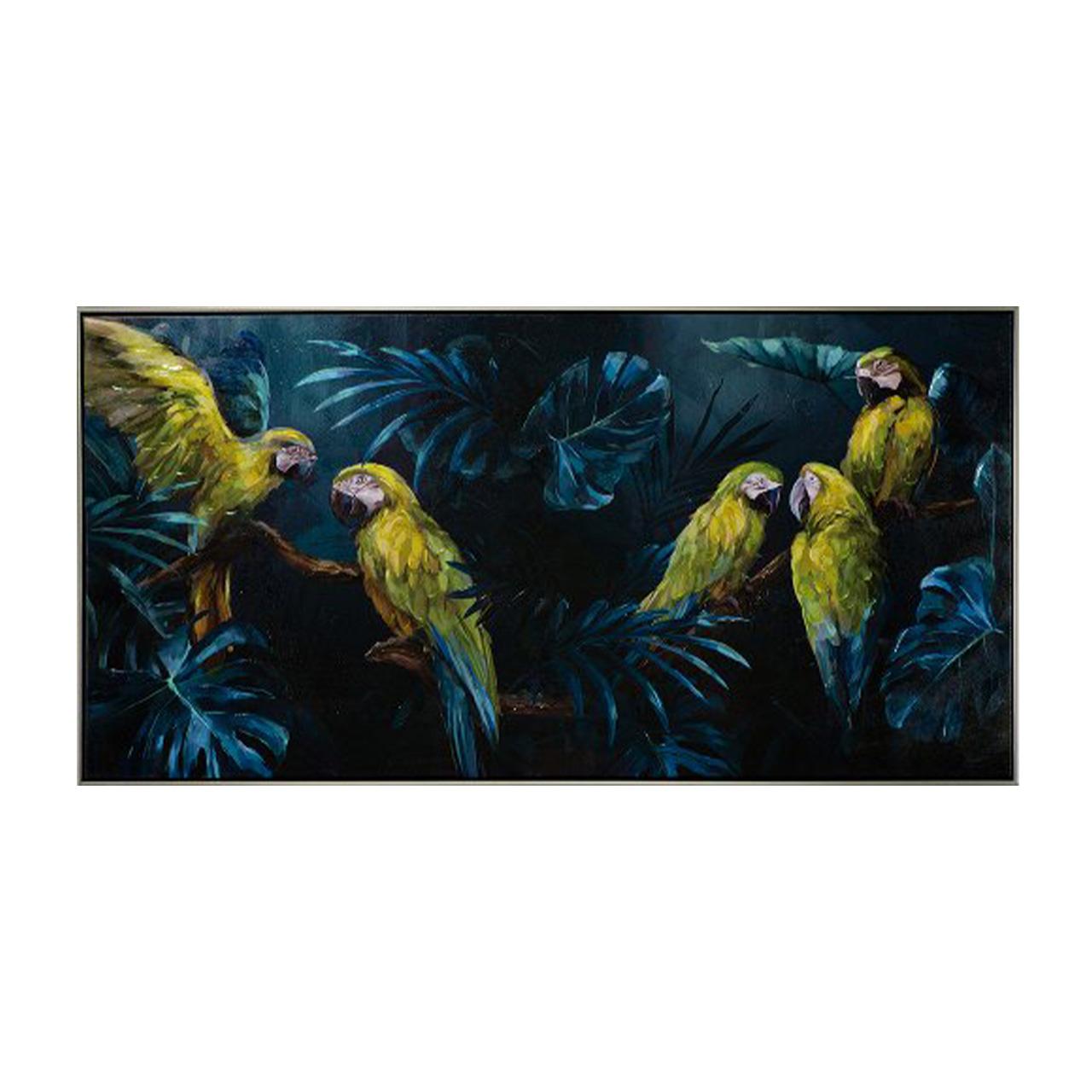 Imageland Bild Papageien im blauen Dschungel