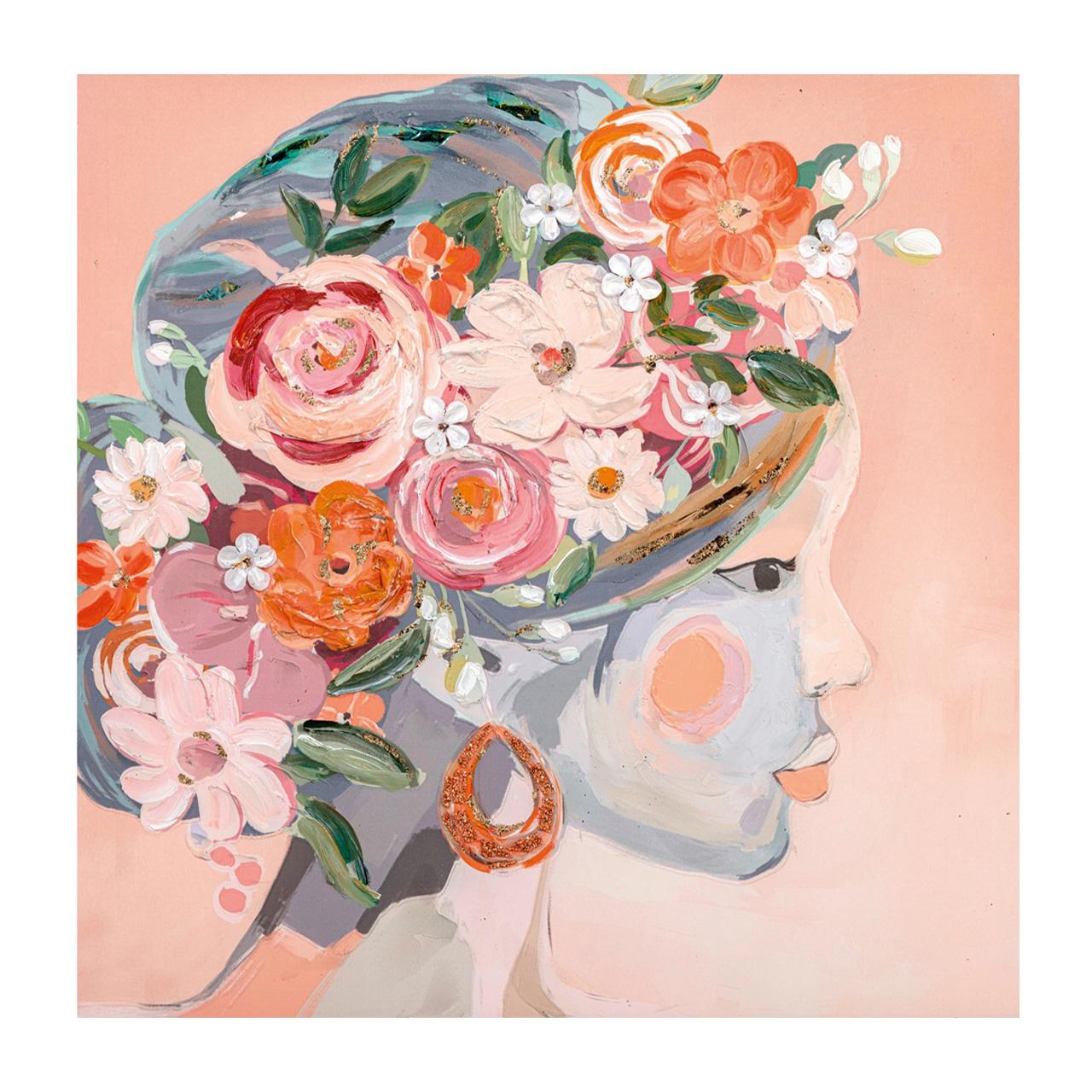 Imageland Bild Blumenmädchen Seitenansicht