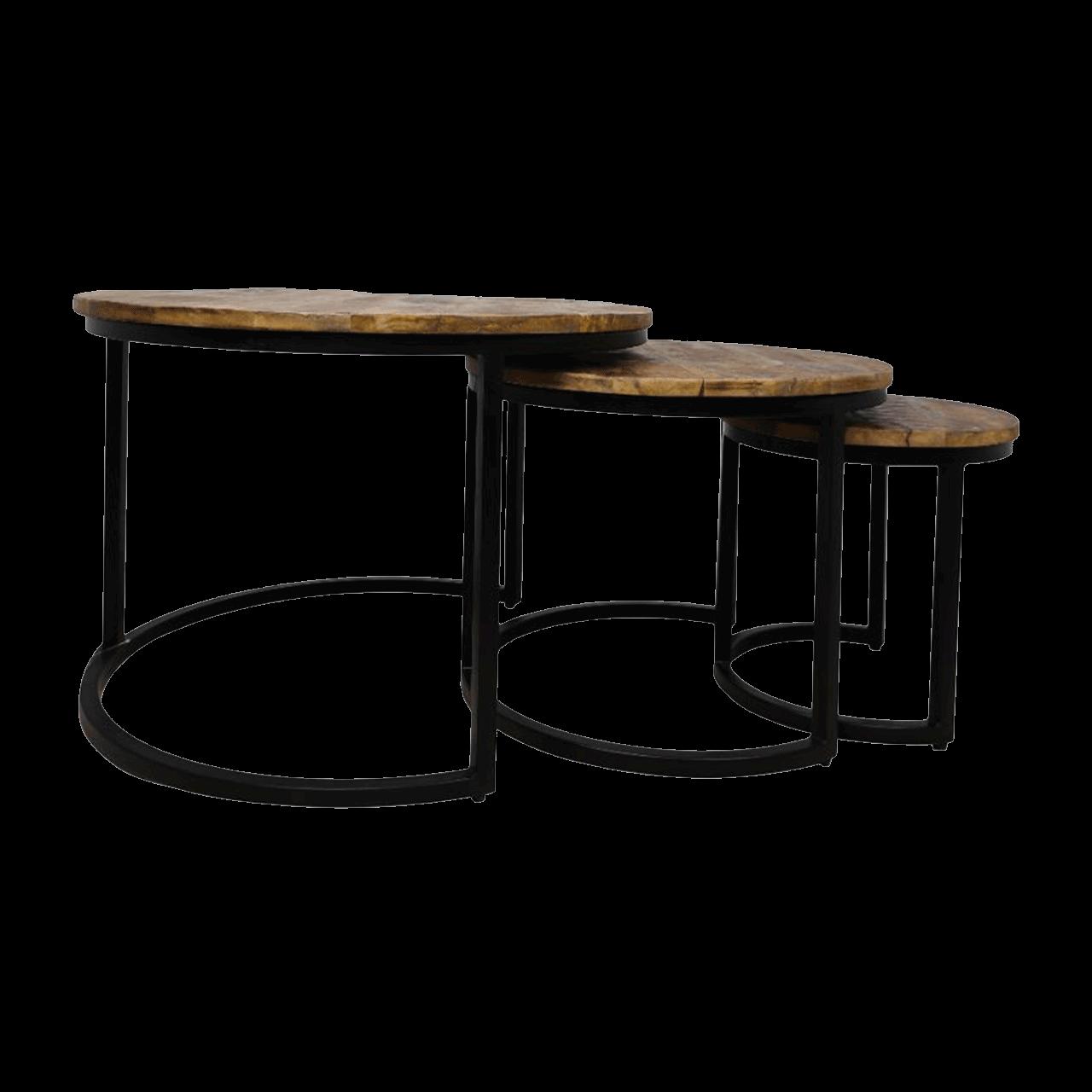 Wooden Art Beistelltische 3er Set